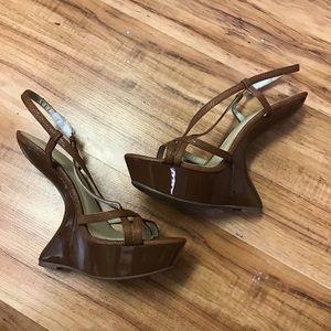 C label brown heel